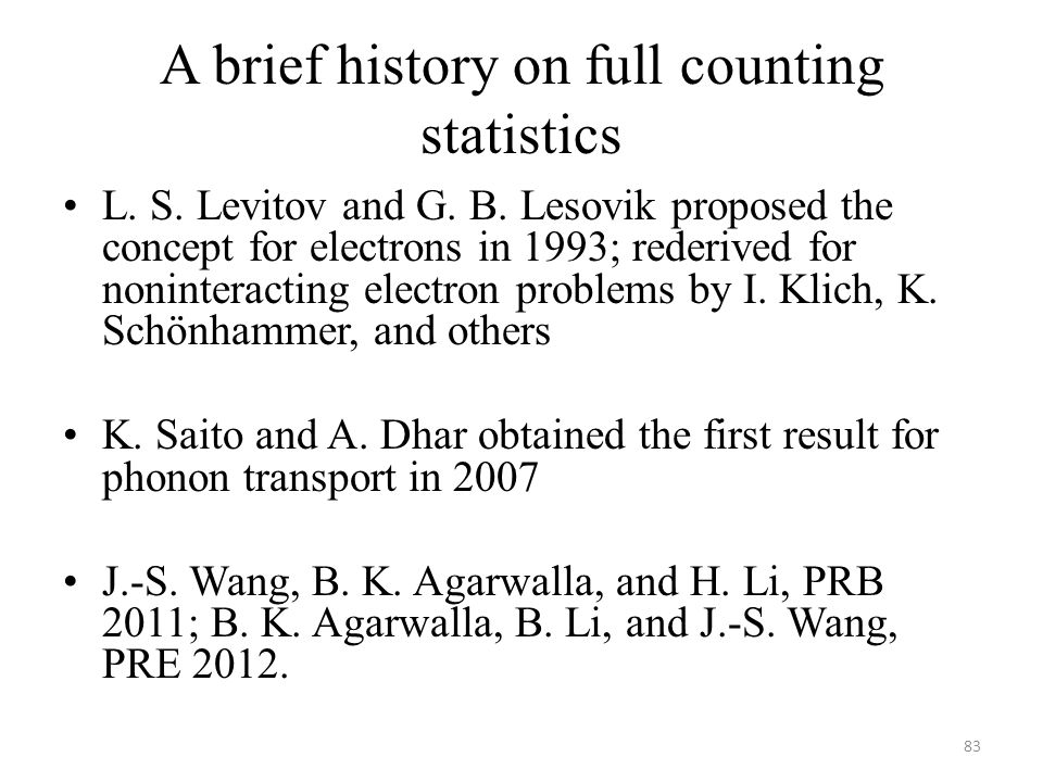 A brief history on full counting statistics