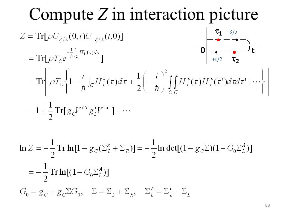 Compute Z in interaction picture