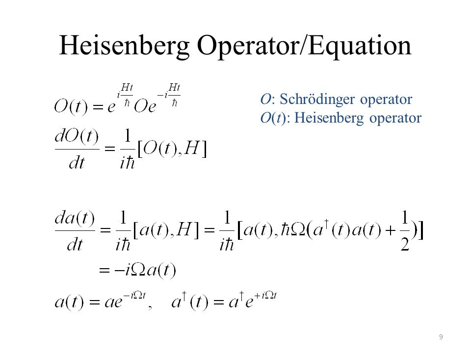 Heisenberg Operator/Equation