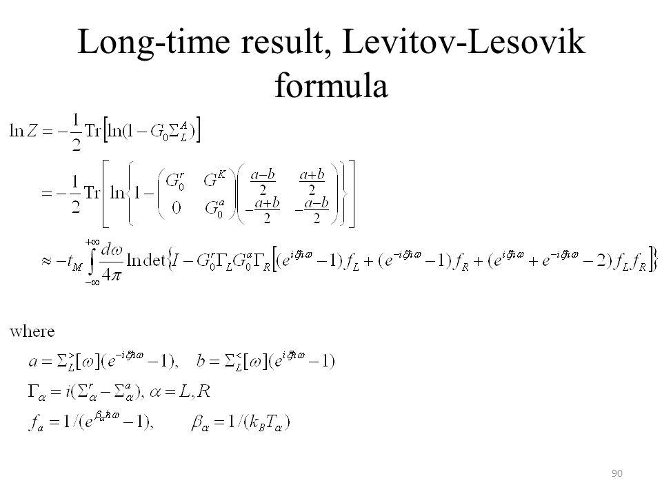 Long-time result, Levitov-Lesovik formula