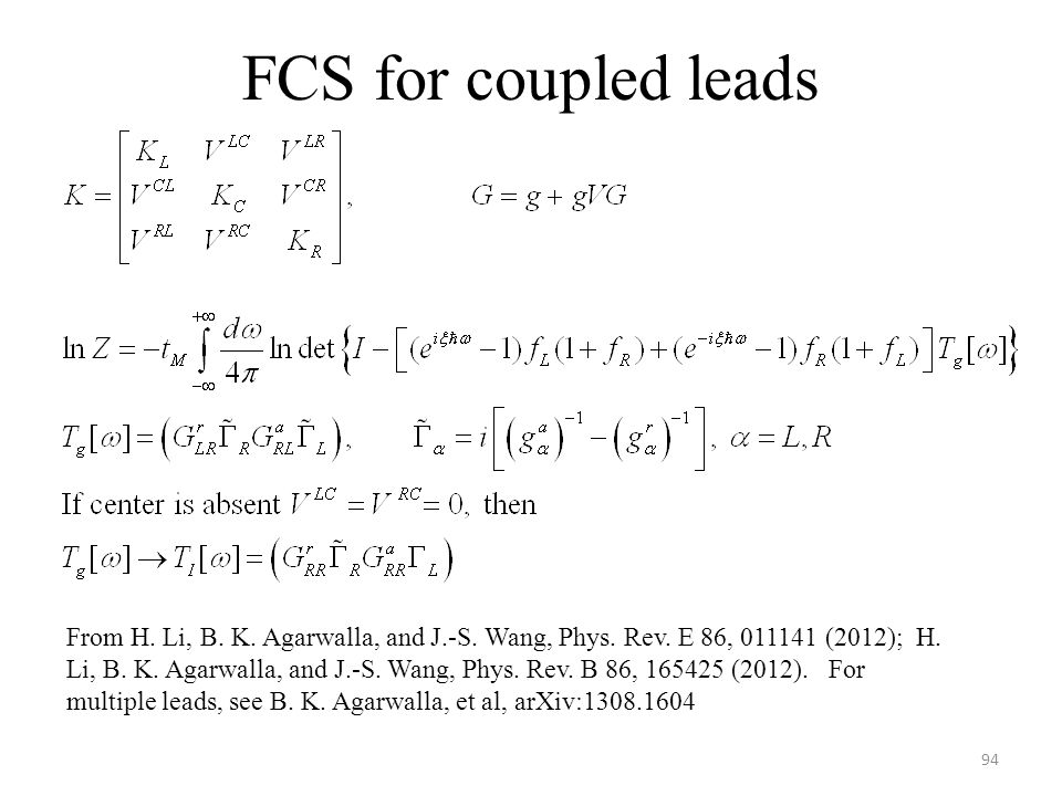 FCS for coupled leads