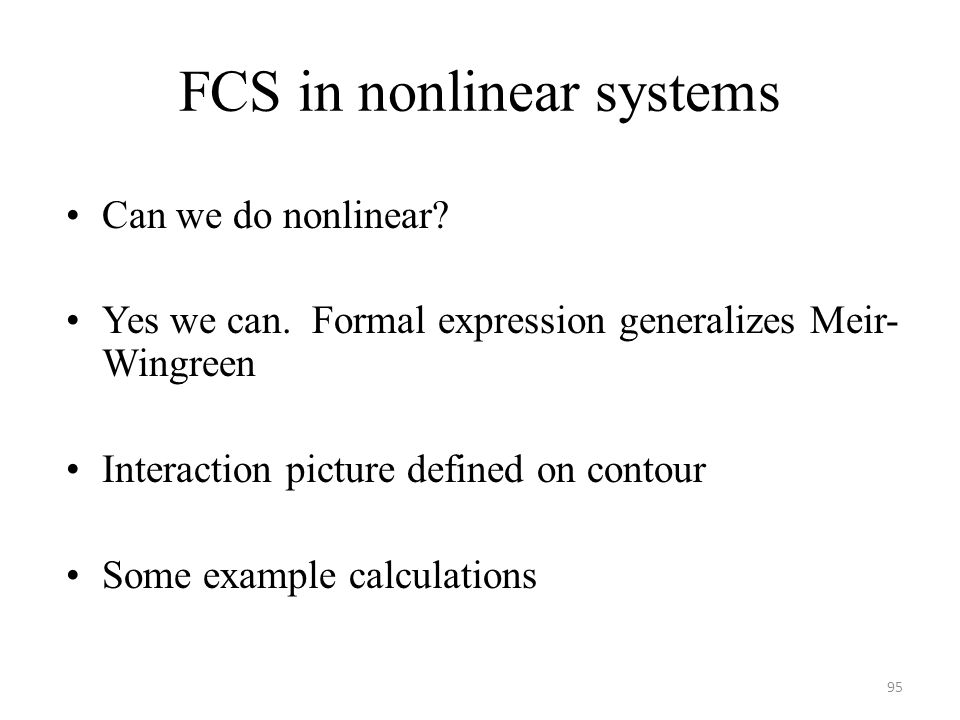 FCS in nonlinear systems