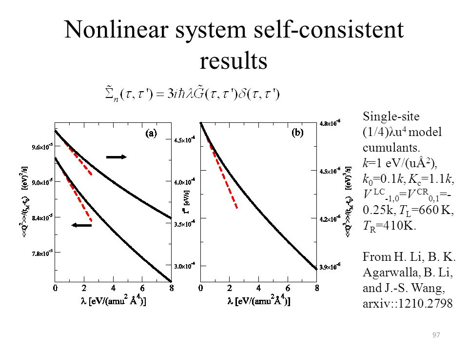 Nonlinear system self-consistent results