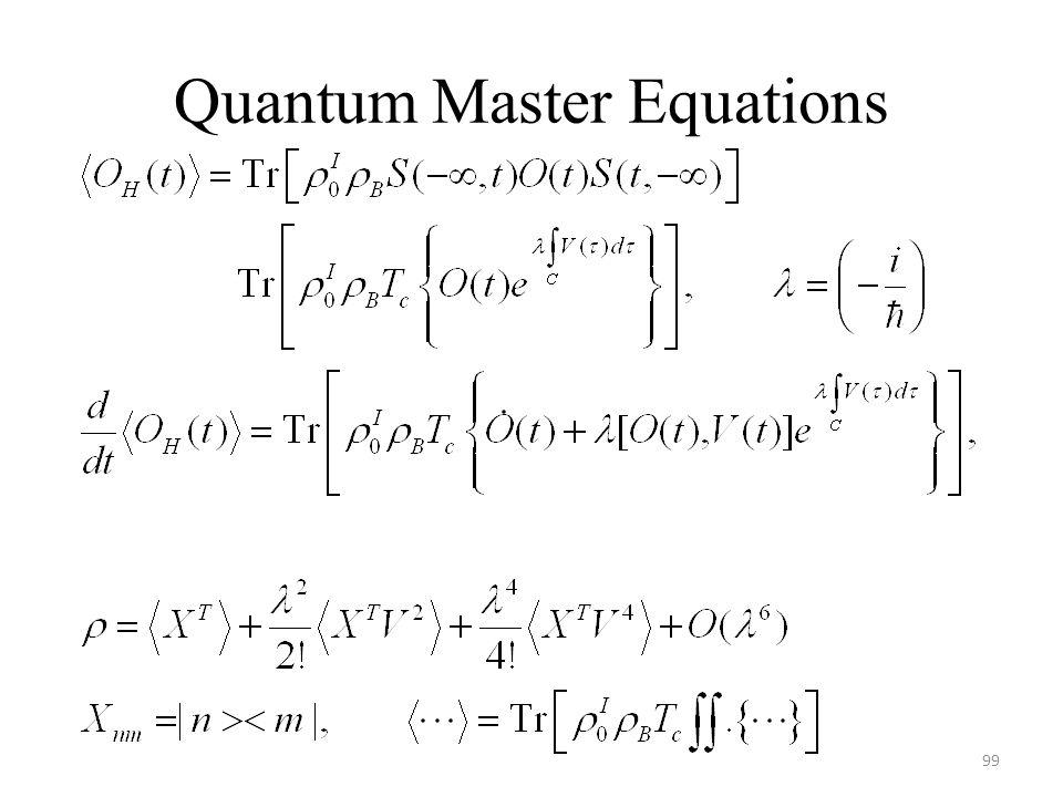 Quantum Master Equations