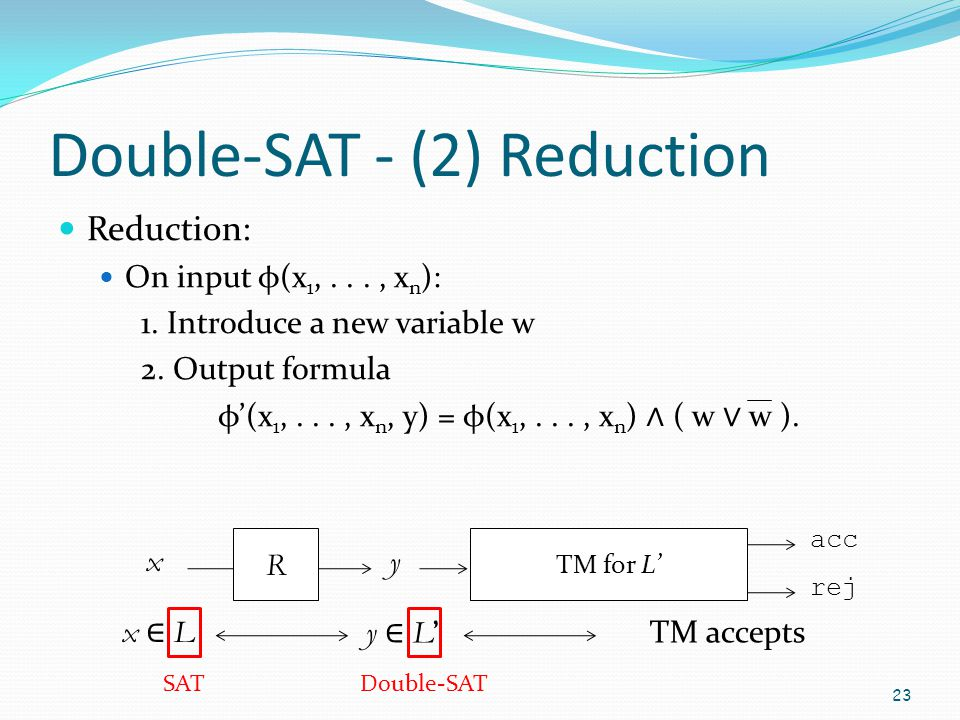Double-SAT - (2) Reduction