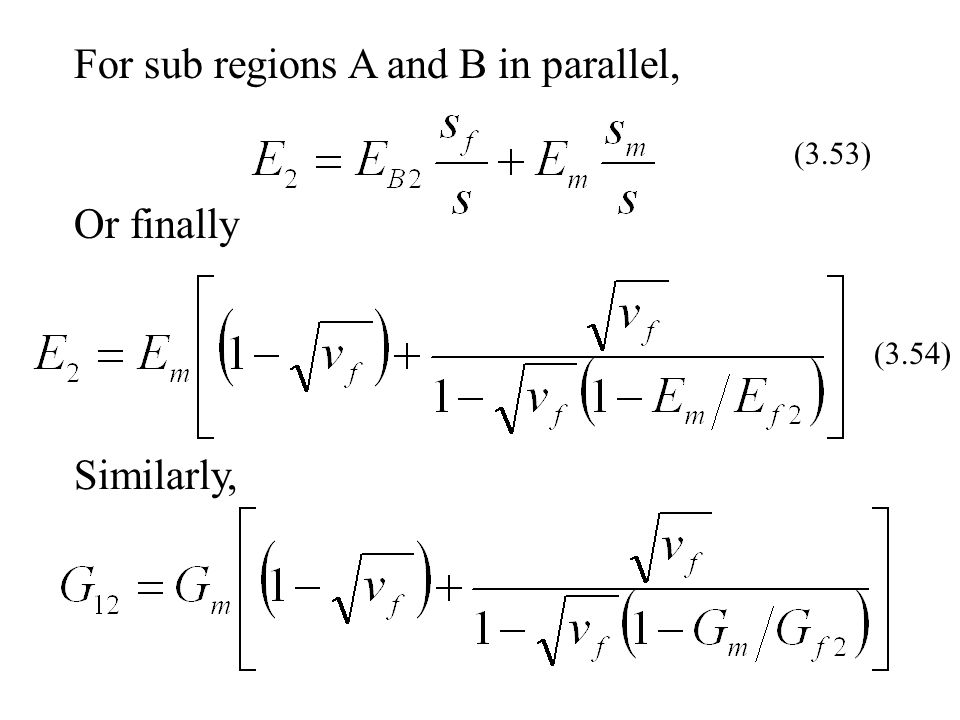 For sub regions A and B in parallel,