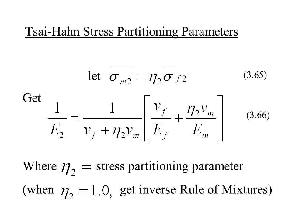 Tsai-Hahn Stress Partitioning Parameters