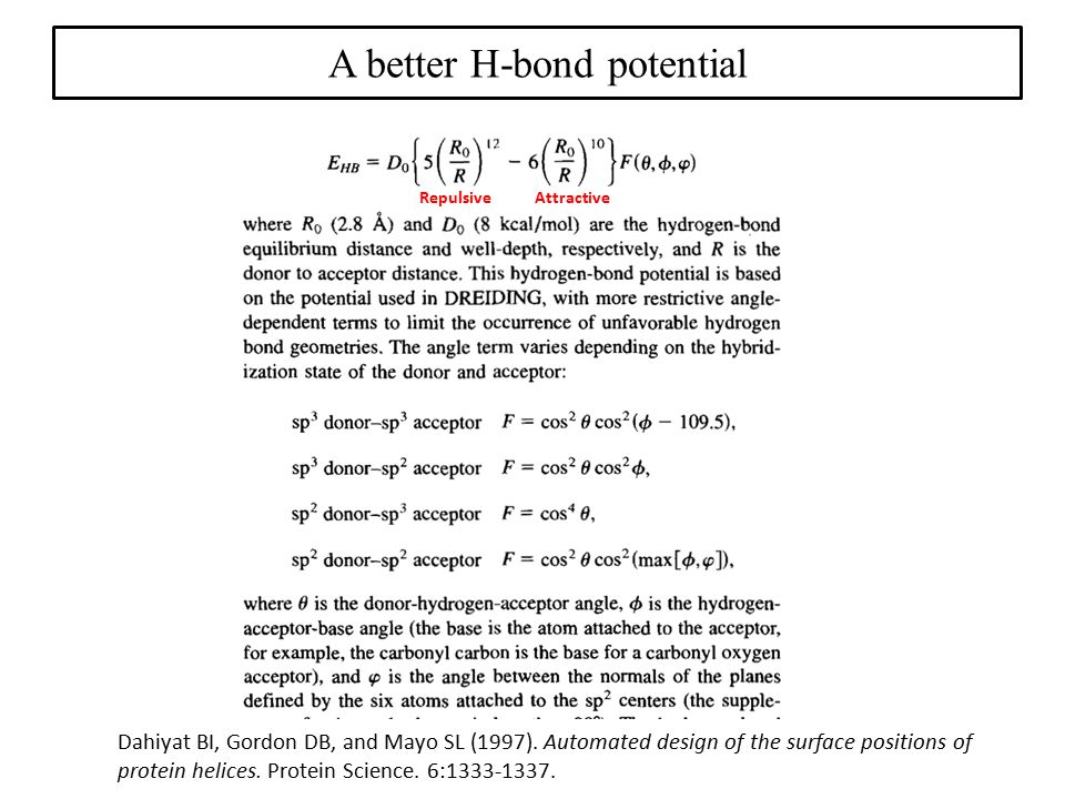 A better H-bond potential
