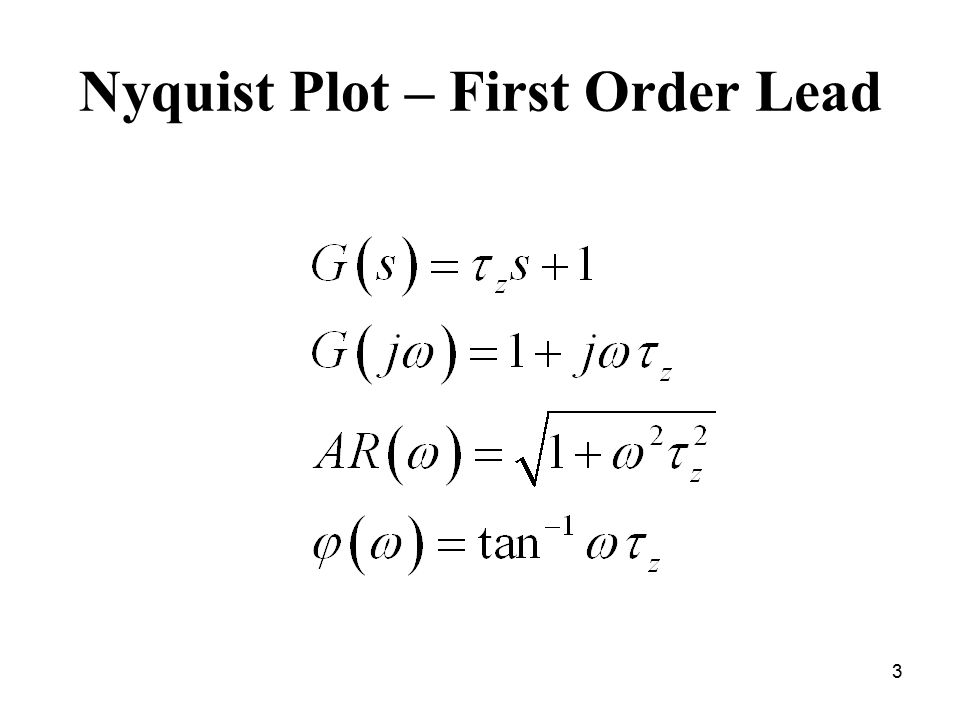 Nyquist Plot – First Order Lead