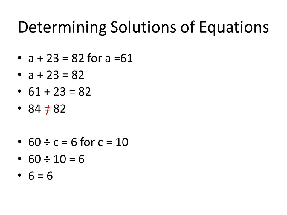 Determining Solutions of Equations