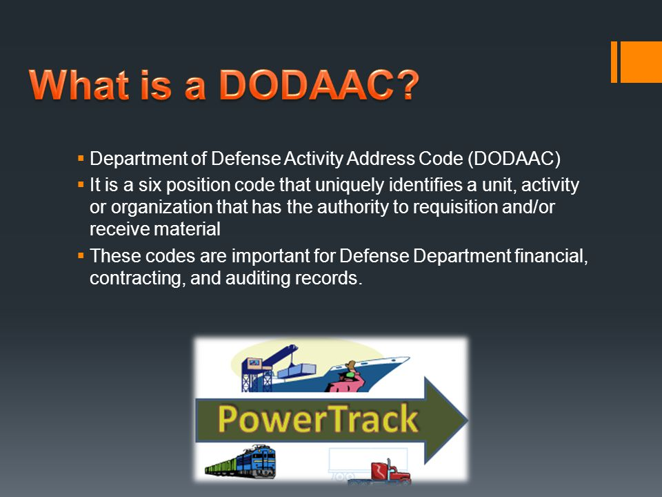 What is a DODAAC Department of Defense Activity Address Code (DODAAC)