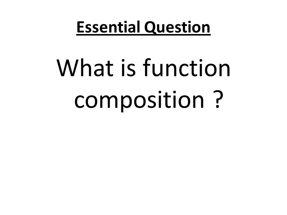 What is function composition