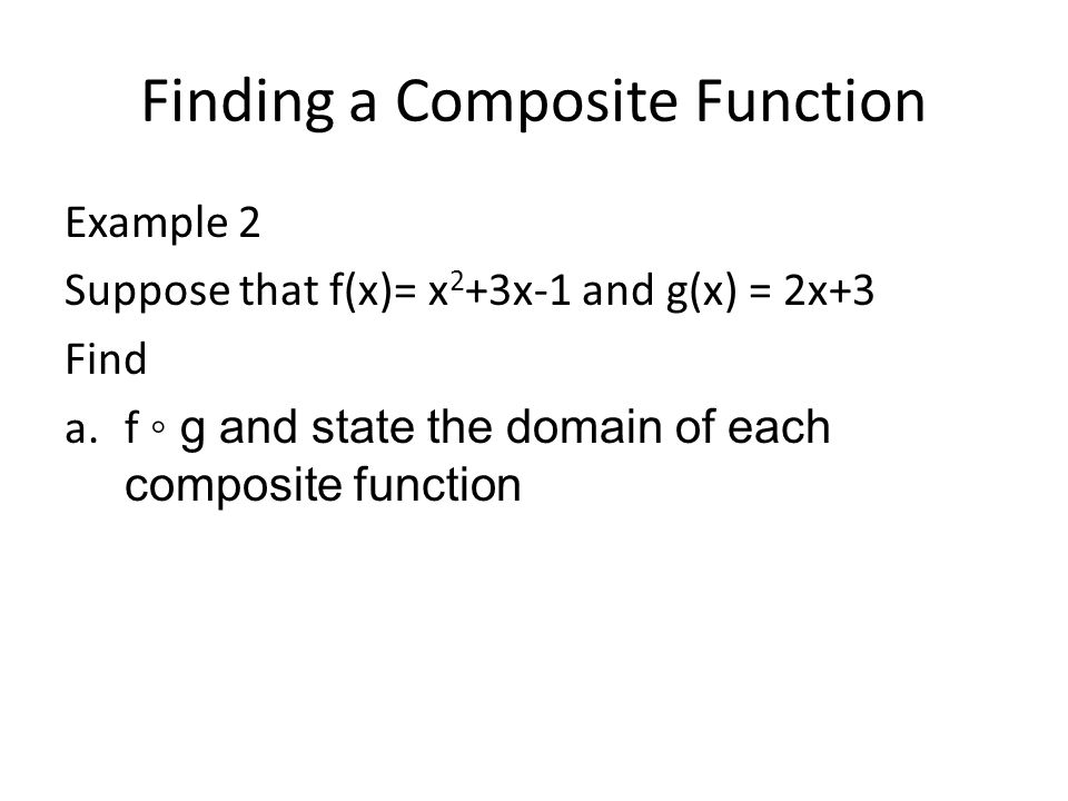 Finding a Composite Function