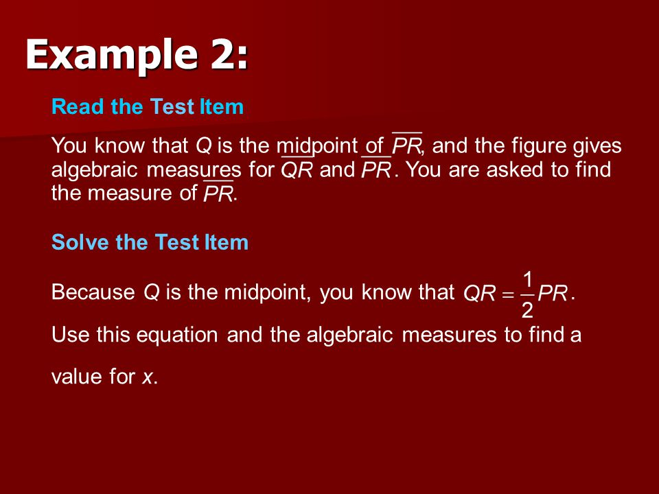 Example 2: Read the Test Item