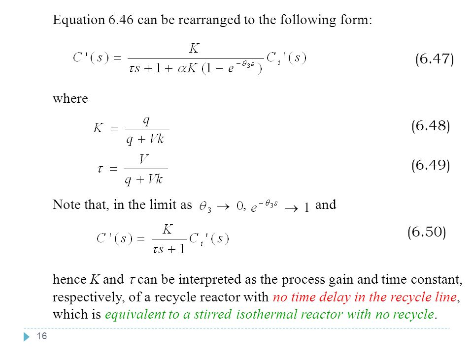 Equation 6.46 can be rearranged to the following form: