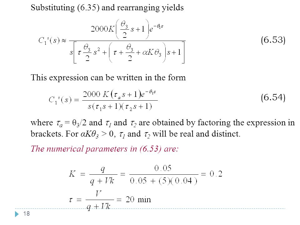 Chapter 6 Chapter 6 Substituting (6.35) and rearranging yields (6.53)