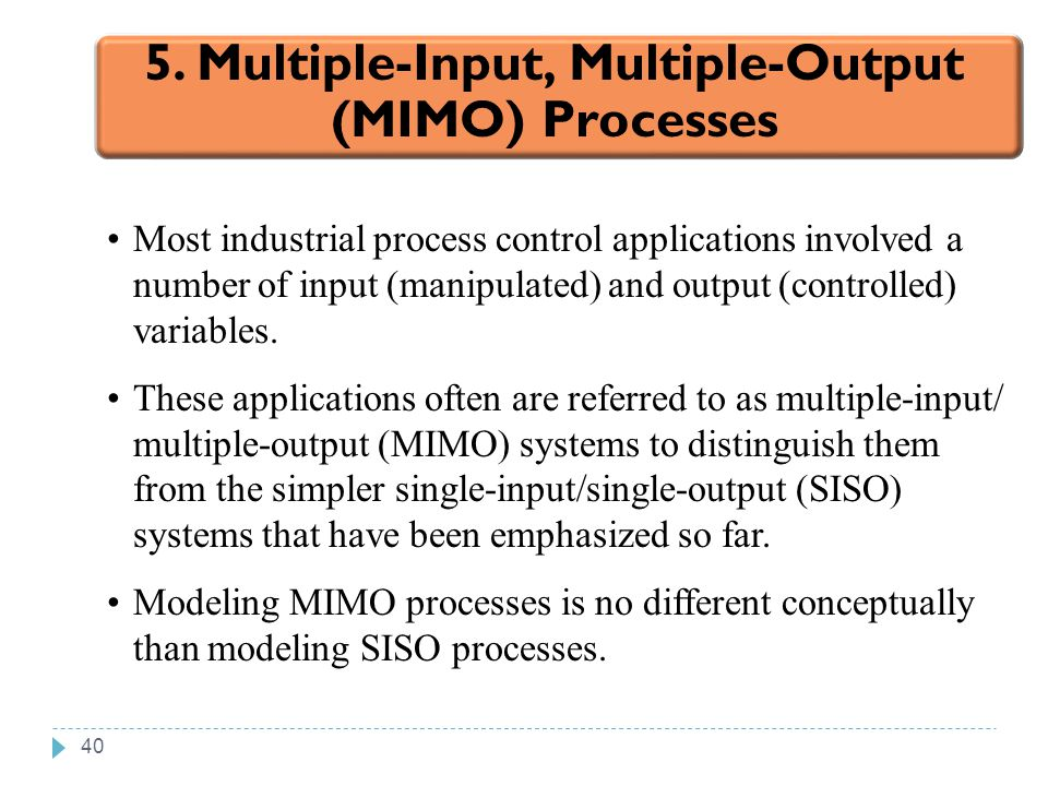 5. Multiple-Input, Multiple-Output (MIMO) Processes
