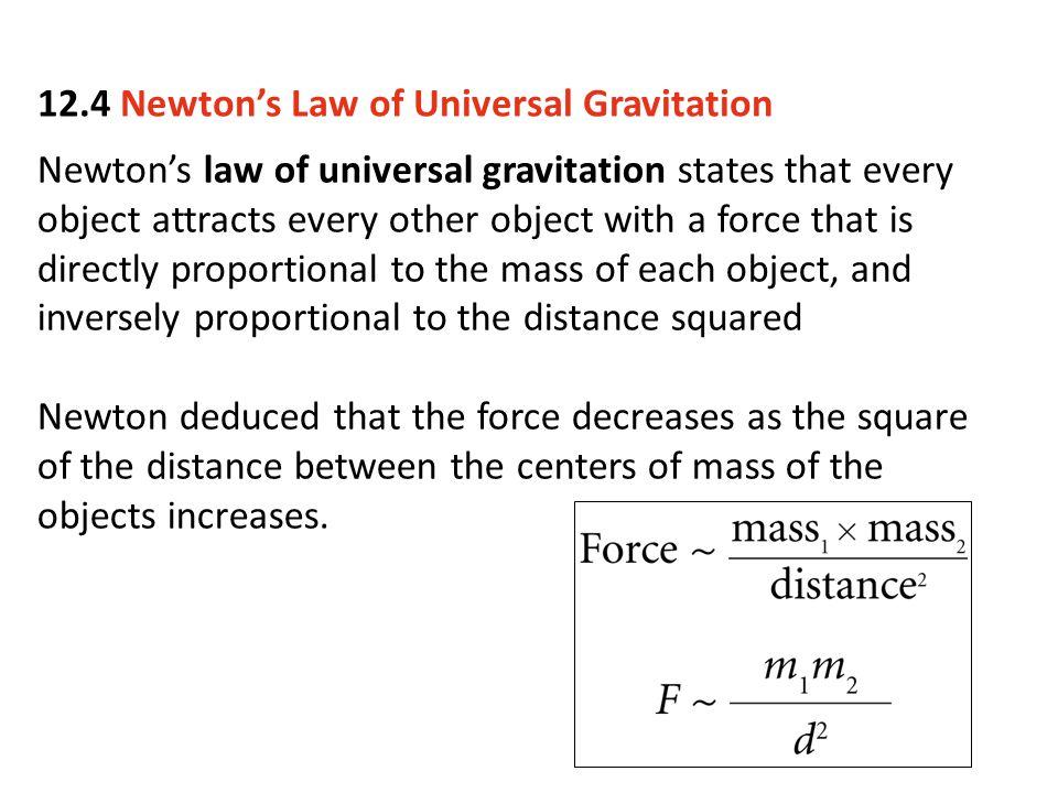 12.4 Newton's Law of Universal Gravitation