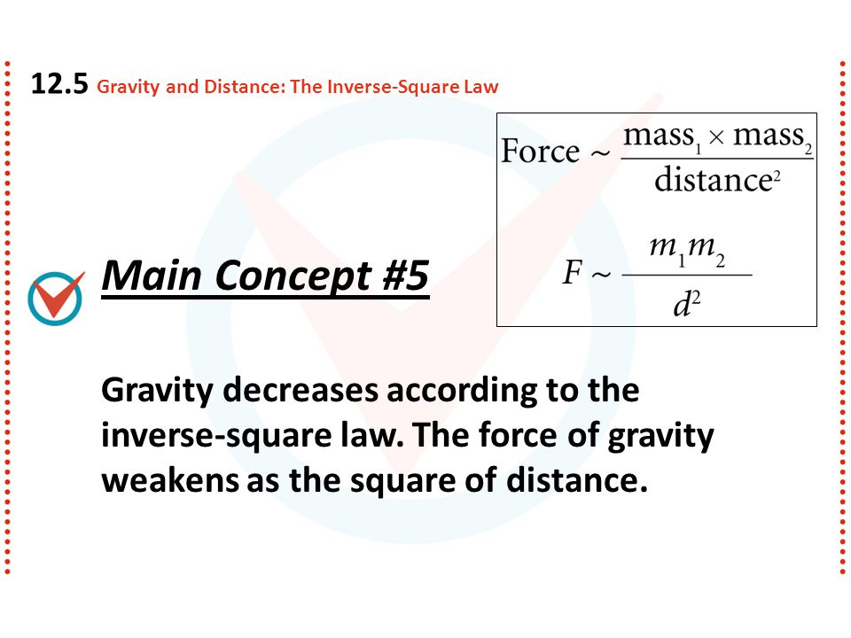 12.5 Gravity and Distance: The Inverse-Square Law