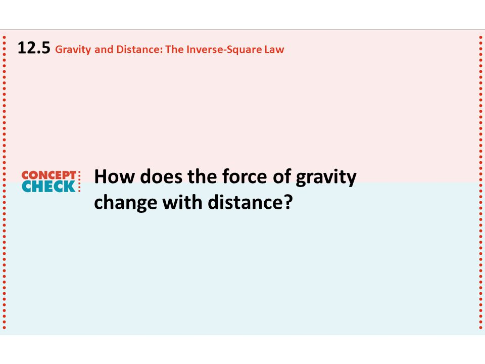 How does the force of gravity change with distance