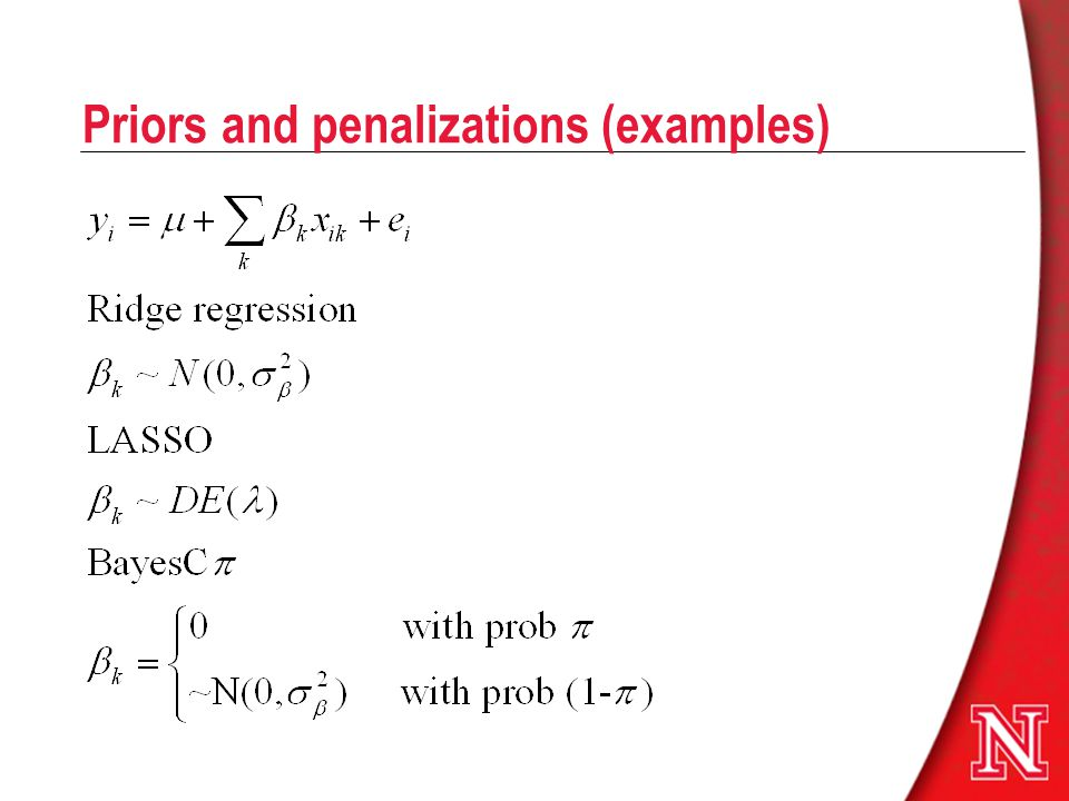 Priors and penalizations (examples)