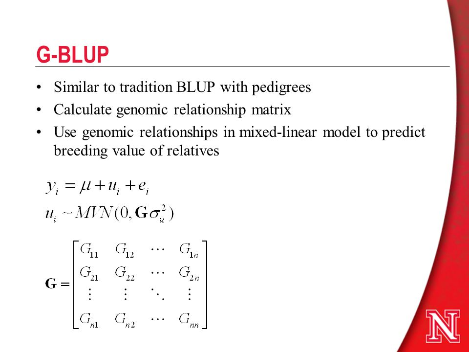 relationship between blup and selection index