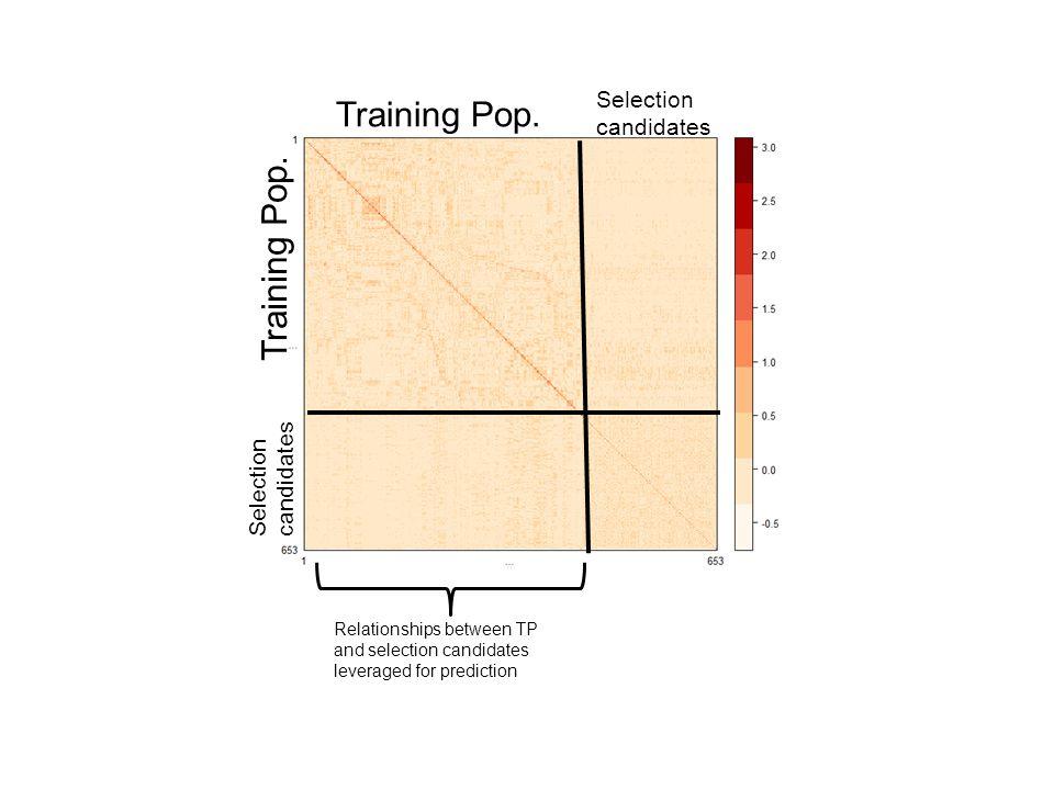 Training Pop. Training Pop. Selection candidates Selection candidates