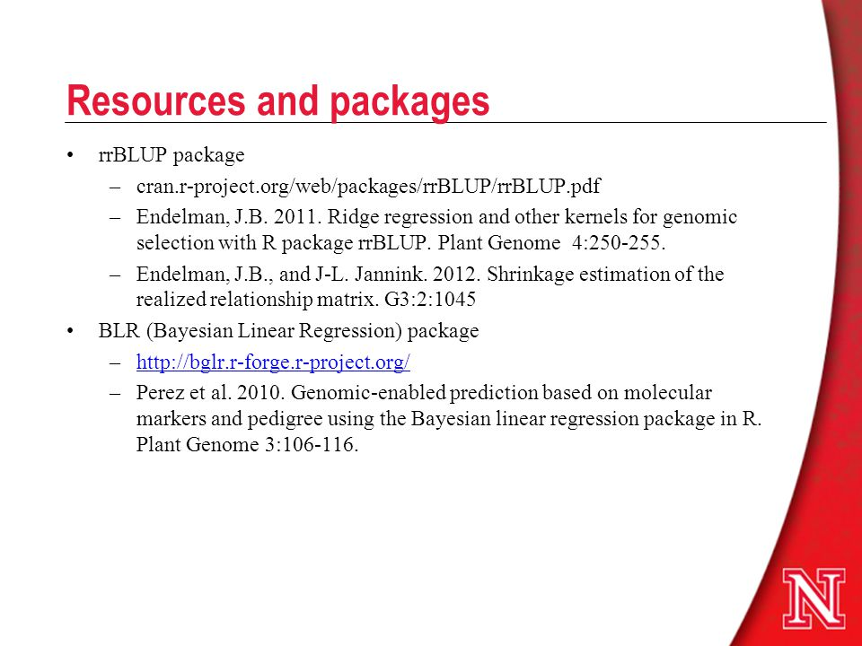 Resources and packages