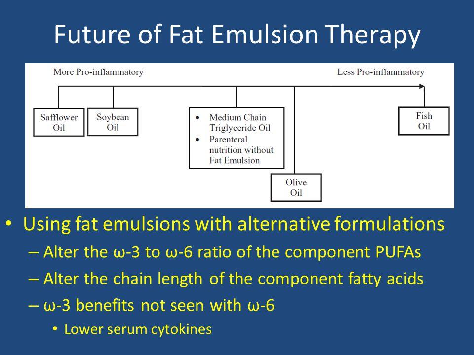 Future of Fat Emulsion Therapy