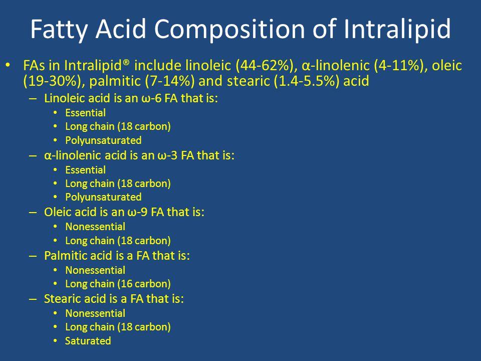 Fatty Acid Composition of Intralipid