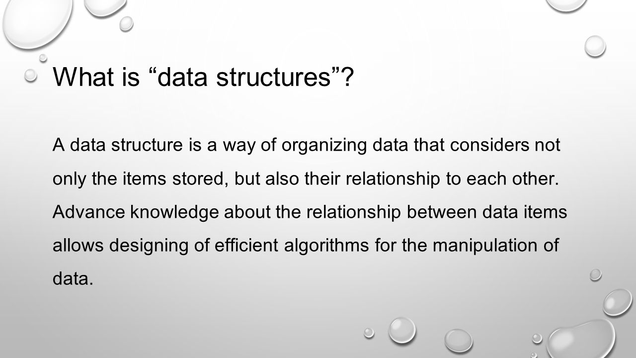 What is data structures