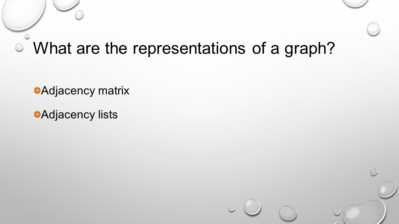 What are the representations of a graph