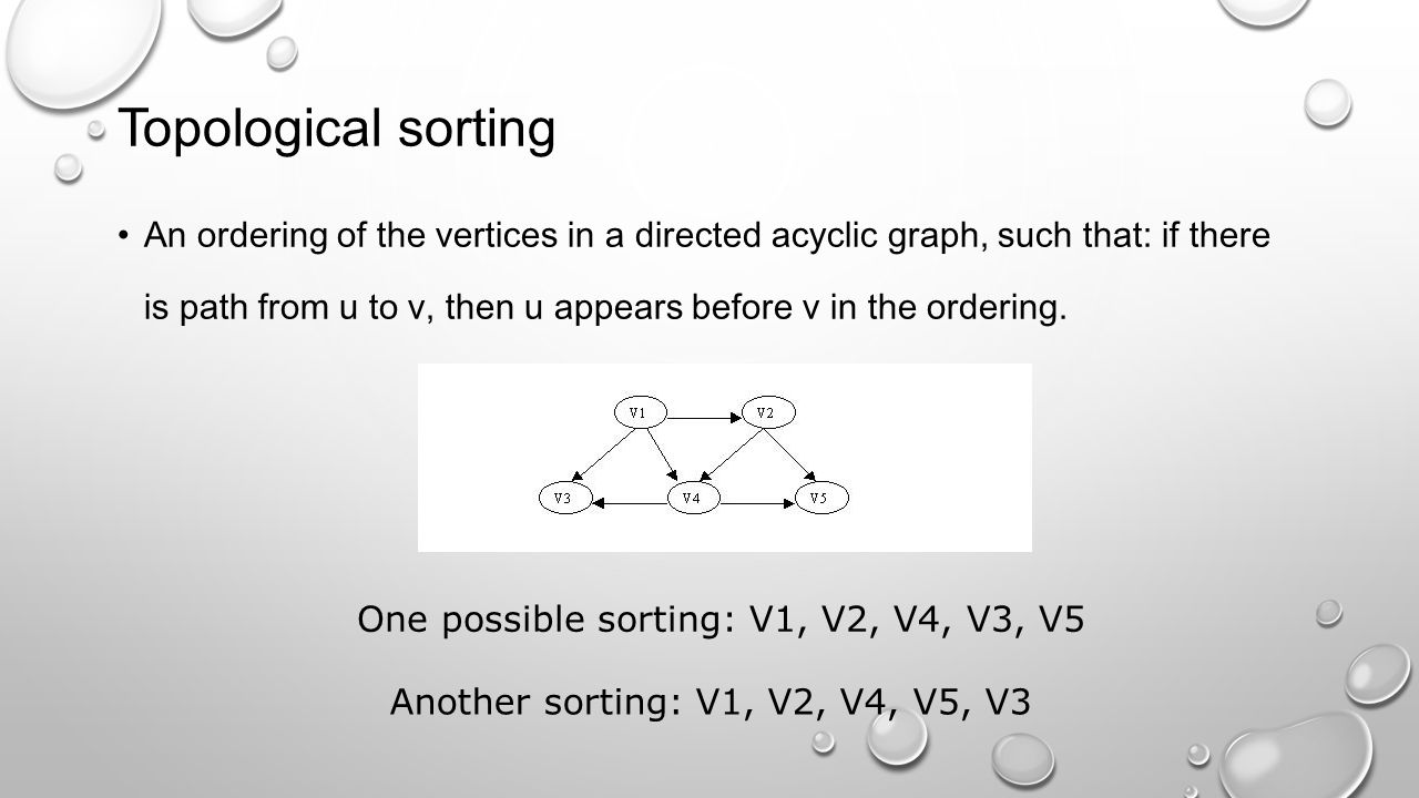 Topological sorting
