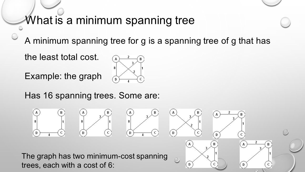 What is a minimum spanning tree