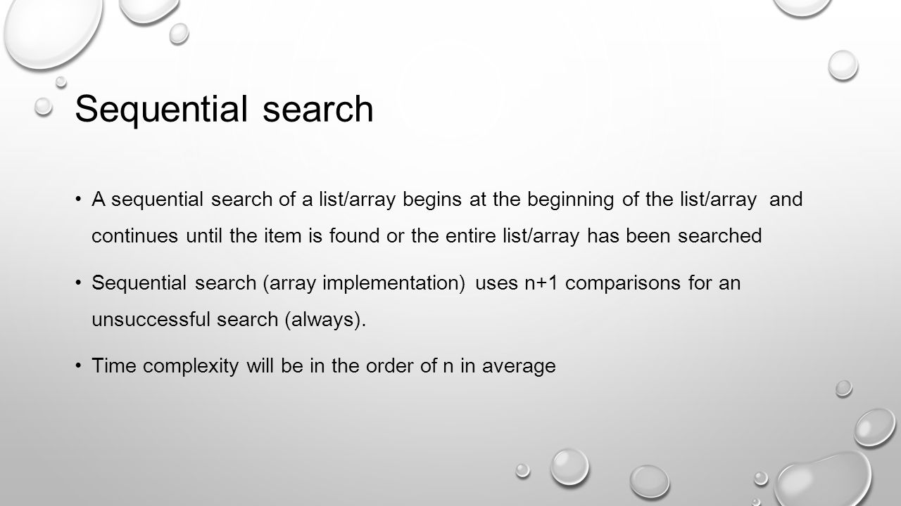 Sequential search