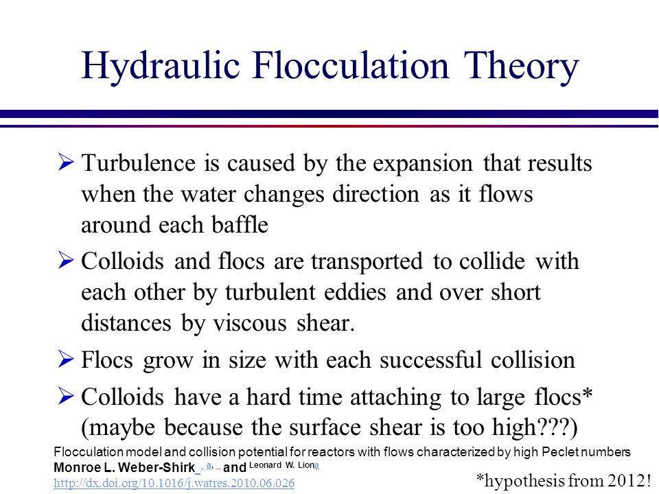 Hydraulic Flocculation Theory