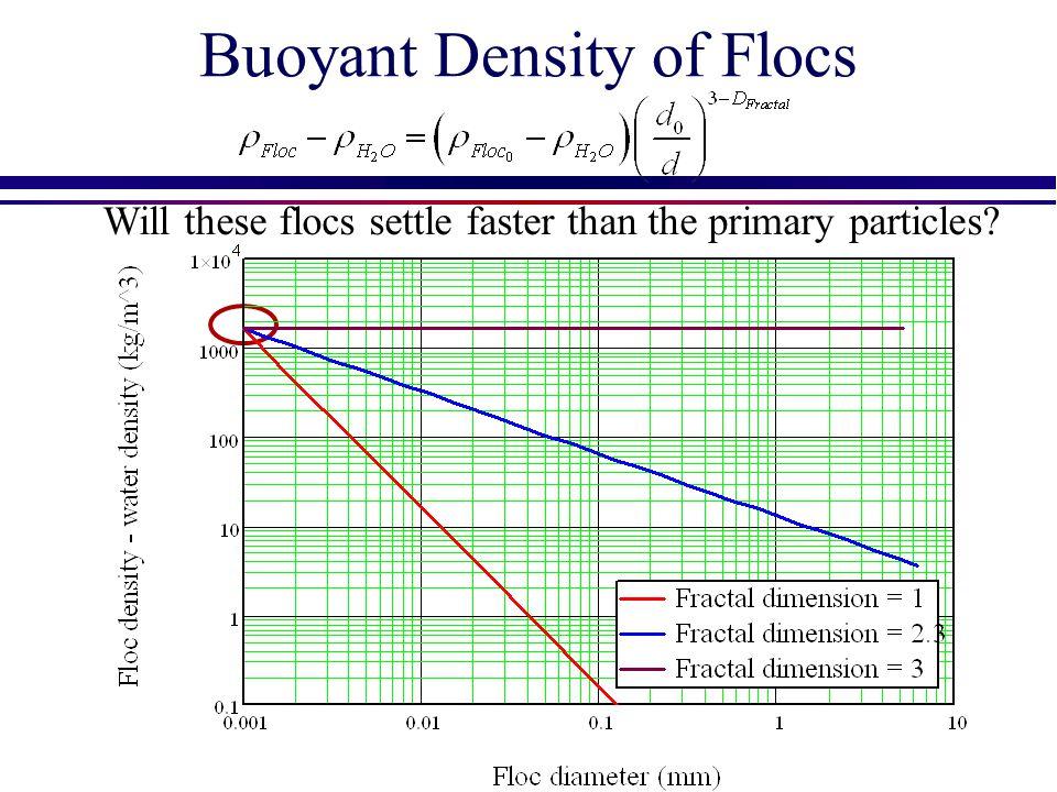 Buoyant Density of Flocs