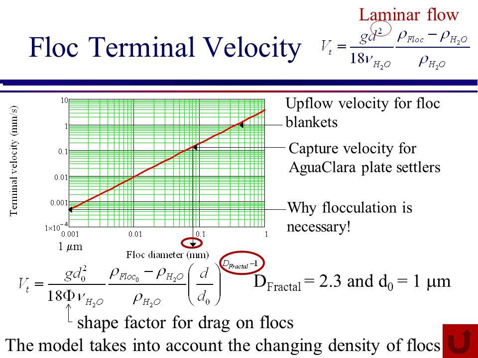 Floc Terminal Velocity