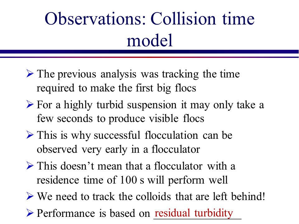 Observations: Collision time model