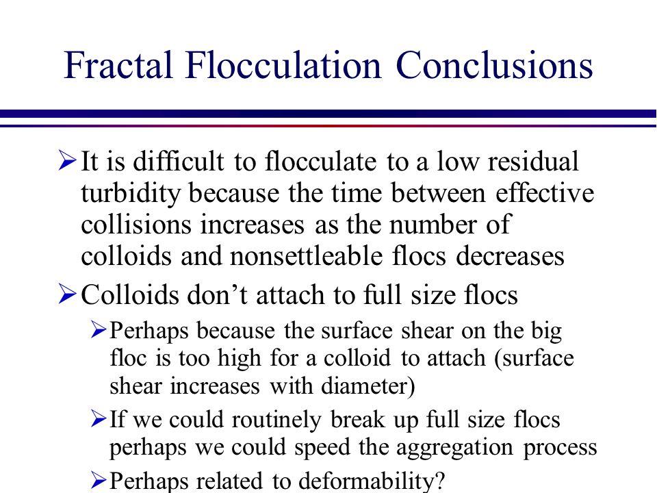 Fractal Flocculation Conclusions
