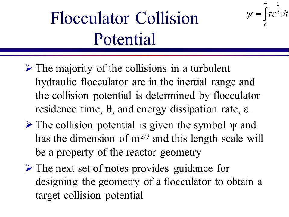 Flocculator Collision Potential