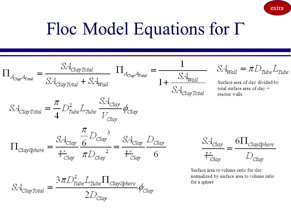Floc Model Equations for G