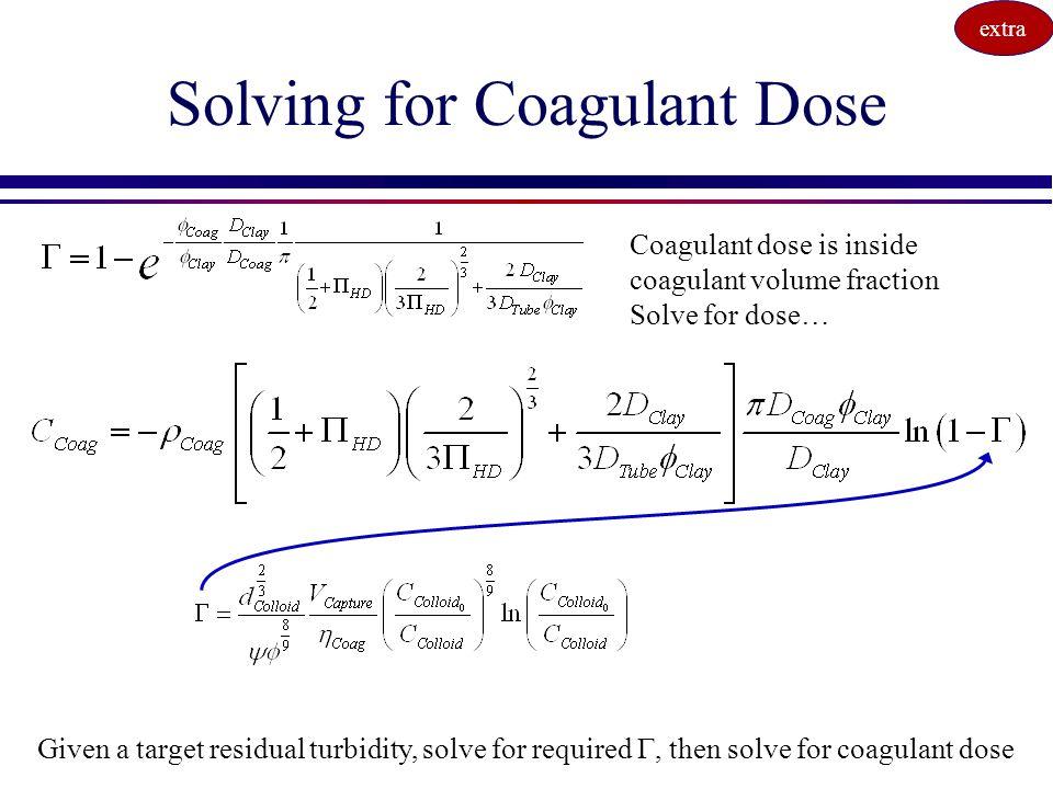 Solving for Coagulant Dose