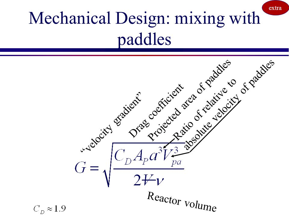 Mechanical Design: mixing with paddles