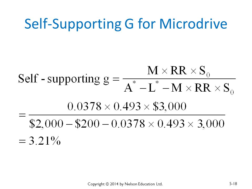 Self-Supporting G for Microdrive