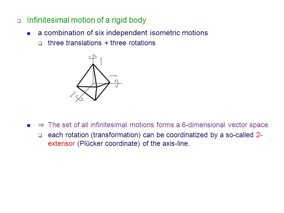 Infinitesimal motion of a rigid body