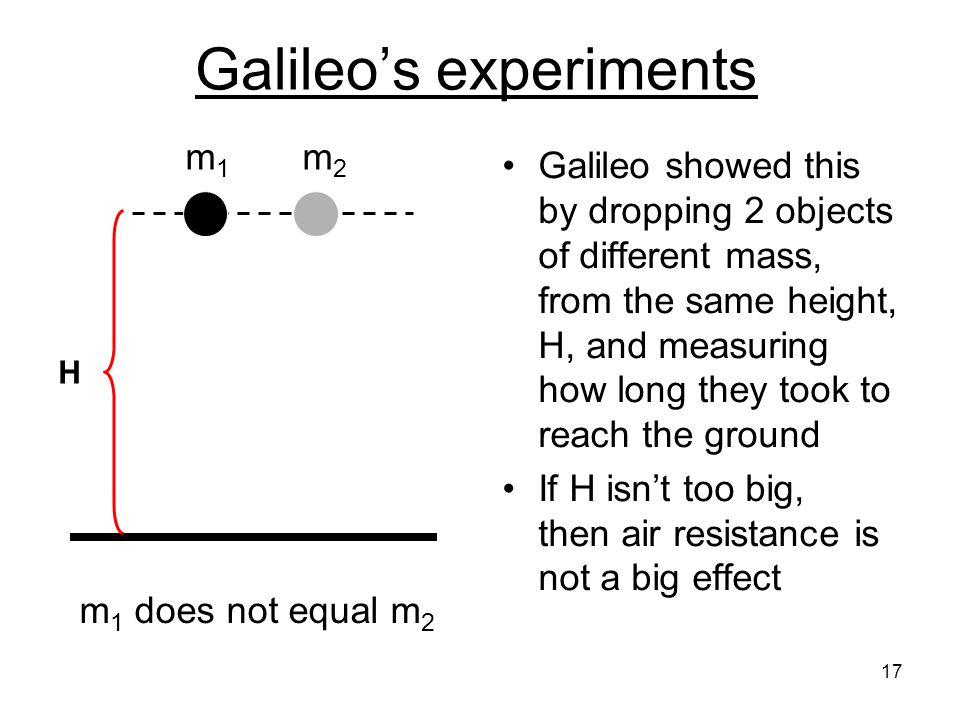 Galileo's experiments