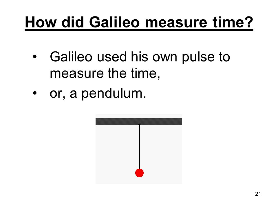 How did Galileo measure time
