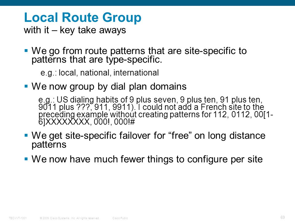 Local Route Group with it – key take aways