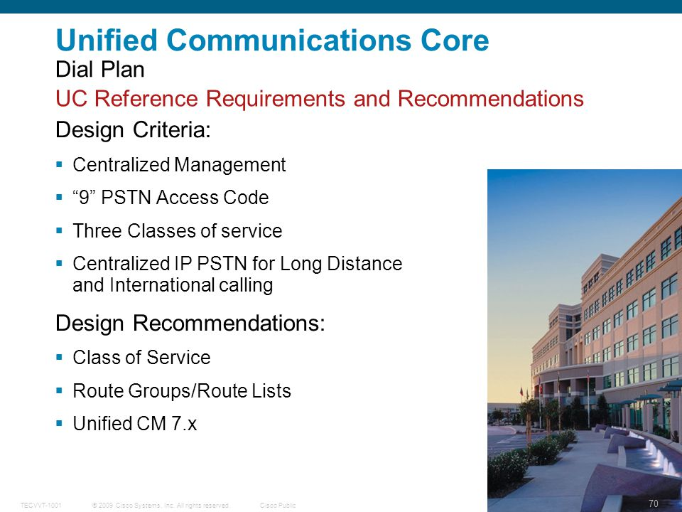 Unified Communications Core Dial Plan